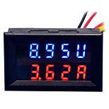 diy практичный двойной 0,28-дюймовый 3-значный красный синий светодиодный индикатор тока на выходе (постоянный ток 0 - 100v / 50a)