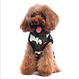 Cat Dog Coat Vest Dog Clothes Casual/Daily Double Sided Chrismas Halloween Letter & Number Camouflage Color Costume For Pets