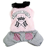 Dog Coat Dog Clothes Casual/Daily Solid Gray Coffee Pink Costume For Pets