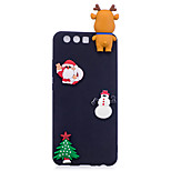 Case For P10 Lite P10 Frosted DIY Back Cover Christmas 3D Cartoon Soft TPU for Huawei P10 Lite Huawei P10 Huawei P8 Lite (2017)