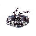 Men's Women's Leather Bracelet Friendship Punk PU Alloy Skull Jewelry For Daily Casual Stage Office & Career Street