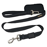 Dog Leash Car Seat Harness/Safety Harness Reflective Solid Nylon Black