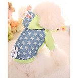 Dog Hoodie Dog Clothes Casual/Daily Stars Green Pink Costume For Pets