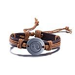 Муж. Жен. Кожаные браслеты Сплав Круглой формы Бижутерия Назначение Повседневные Для сцены Для улицы