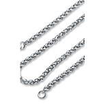 Муж. Жен. Ожерелья-цепочки Нержавеющая сталь Базовый дизайн Бижутерия Назначение Для вечеринок Официальные