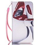Case For Apple Ipod Touch5 / 6 Case Cover Card Holder Wallet with Stand Flip Pattern Full Body Case  Lip Hard PU Leather