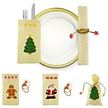 Gift Bags Holiday Fairytale Theme People Textile Christmas Decoration