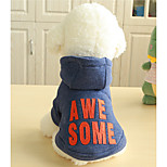 Dog Hoodie Dog Clothes Casual/Daily Lips Gray Blue Costume For Pets