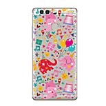 Case For Huawei P9 P10 Transparent Pattern Back Cover Transparent Cartoon Elephant Soft TPU for Huawei P10 Plus Huawei P10 Lite Huawei