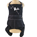 Dog Harness Dog Clothes Casual/Daily Letter & Number Black Costume For Pets