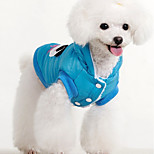 Dog Vest Puffer / Down Jacket Dog Clothes Warm Breathable Casual/Daily British Blue Pink Costume For Pets