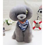 Собака Жилет Одежда для собак На каждый день геометрический Зеленый Синий Костюм Для домашних животных