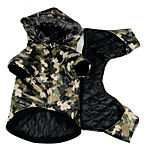 Dog Coat Dog Clothes Casual/Daily Police/Military Green Costume For Pets