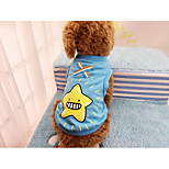 Dog Vest Dog Clothes Casual/Daily Cartoon Orange Red Green Blue Costume For Pets