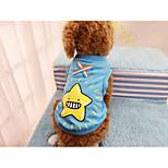Hund Weste Hundekleidung Lässig/Alltäglich Karton Orange Rot Grün Blau Kostüm Für Haustiere