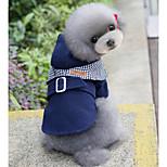 Собака Пальто Одежда для собак На каждый день Английский Красный Синий Костюм Для домашних животных