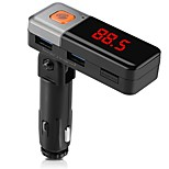 Bluetooth Car Kit Hands-free Call FM Transmitter Radio Adapter Stereo MP3 Music Player Dual USB Charger AUX TF Card Port