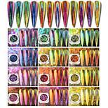 0.2g / bouteille nail art glisten flocon poudre diy décoration laser miroir dégradé paon effet glisten poudre nail salon diy beauté