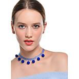 Жен. Ожерелья-бархатки Ожерелья с подвесками Круглой формы Фланелет Регулируется Бижутерия Назначение Повседневные Свидание