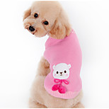Dog Sweater Dog Clothes Warm Casual/Daily Cartoon Coffee Pink Costume For Pets