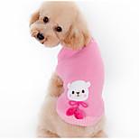 Собака Свитера Одежда для собак Теплый На каждый день Мультфильмы Кофейный Розовый Костюм Для домашних животных