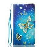 For Case Cover Card Holder Wallet with Stand Flip Magnetic Pattern Full Body Case Butterfly Hard PU Leather for Sony Sony Xperia L1
