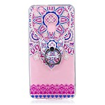Case For Huawei P10 Lite Ring Holder Transparent Pattern Back Cover Mandala Soft TPU for Huawei P10 Lite Huawei P8 Lite (2017)