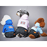 Dog Clothes/Jumpsuit Dog Clothes Casual/Daily Solid Blue Blushing Pink Light Blue