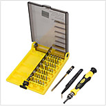 45 in 1 Screwdriver Set Opening Repair Tools Kit Innver Hex Sleeve With Tweezers Extension Shaft Electronics Fix