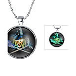 Women's Choker Necklaces Pendant Necklaces Round Alloy Hip-Hop Illuminated Jewelry For Halloween Casual