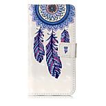 Кейс для Назначение Huawei P10 Lite Кошелек Бумажник для карт со стендом Флип С узором Чехол Ловец снов Твердый Искусственная кожа для