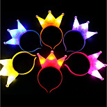 cheap -1Pcs Light Crown Xmas Led Light Headwear For Party Headband Children Gift Ramdon Color