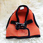 Dog Harness Portable Solid Fabric Orange