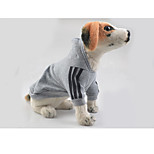 Dog Hoodie Dog Clothes Sports Stripe Black Red Gray