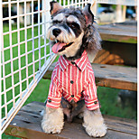 Dog T-shirts Dog Clothes Casual/Daily Stripe Black Blue Pink Light Blue Costume For Pets