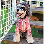 Hund T-Shirts Hundekleidung Lässig/Alltäglich Streifen Schwarz Blau Rosa Hellblau Kostüm Für Haustiere