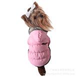 Собака Плащи Одежда для собак Хлопок Зима На каждый день Сохраняет тепло Однотонный Пурпурный Коричневый Красный Синий Розовый Для