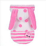 Cat Dog Hoodie Christmas Dog Clothes Keep Warm Animal Halloween Polka Dots Blue Pink Costume For Pets