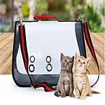 Cat Dog Sling Bag Pet Carrier Portable Breathable Solid Color Block Red