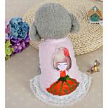 Собака Платья Одежда для собак На каждый день Мультфильмы Синий Розовый Костюм Для домашних животных