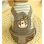 Dog Clothes/Jumpsuit Dog Clothes Casual/Daily Stripe Blushing Pink Gray