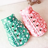 Dog Vest Dog Clothes Casual/Daily British Green Blushing Pink