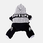 Dog Hoodie Clothes/Jumpsuit Dog Clothes Casual/Daily Stripe Black