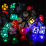 Solar Powered  LED String Light Dice Shape 0.5W 10LM 2V 6Meters 30LEDS Multi Color/Warm White/White