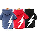 Dog Hoodie Dog Clothes Casual/Daily Geometric Blue Red Black
