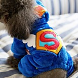 Dog Jumpsuit Dog Clothes Casual/Daily Geometric Red Blue Costume For Pets
