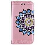 Case For LG K8 (2017) Card Holder Wallet with Stand Flip Embossed Pattern Full Body Mandala Glitter Shine Hard PU Leather for LG K10 LG