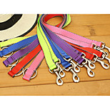 Dog Leashes Portable Solid Nylon Purple Red Green Blue Pink
