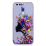 Case For Huawei P10 Lite IMD Transparent Pattern Back Cover Sexy Lady Flower Soft TPU for Huawei P10 Lite Huawei P9 Lite Huawei P8 Lite