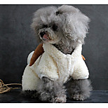 Dog Costume Dog Clothes Terylene Winter Casual/Daily Solid White Gray Brown For Pets